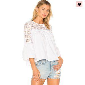 Endless Rose Louvre Crochet Lace Boho Top White